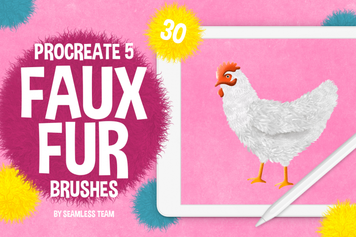 30 FAUX FUR BRUSHES FOR PROCREATE 5