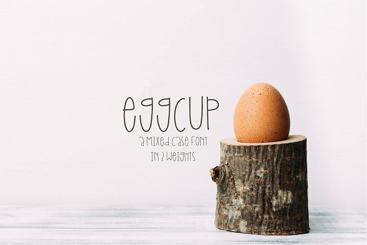 Eggcup - A Mixed Case Font with Three Weights
