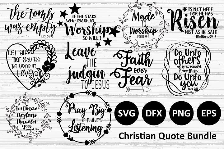 10 Christian Quote SVG Bundle