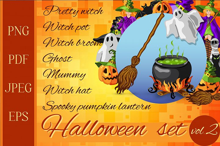 Halloween cartoon graphic set - 30 in 1 PNG, EPS, PDF, JPEG