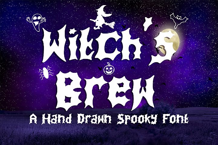 Witchs Brew - A Spooky Hand Drawn Font + Extras