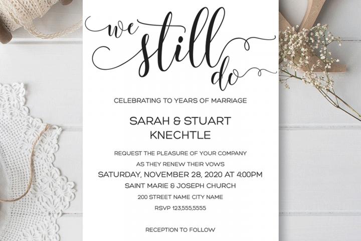 We still do, Wedding Anniversary invitation, Renewing Vows