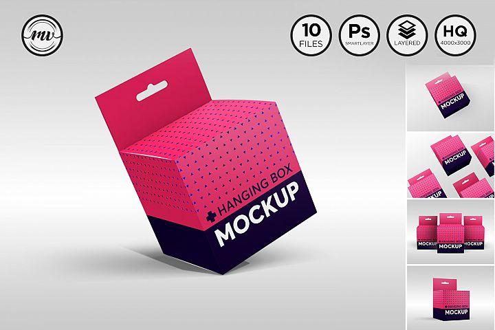 Square Box with Hanger Mockup V.1