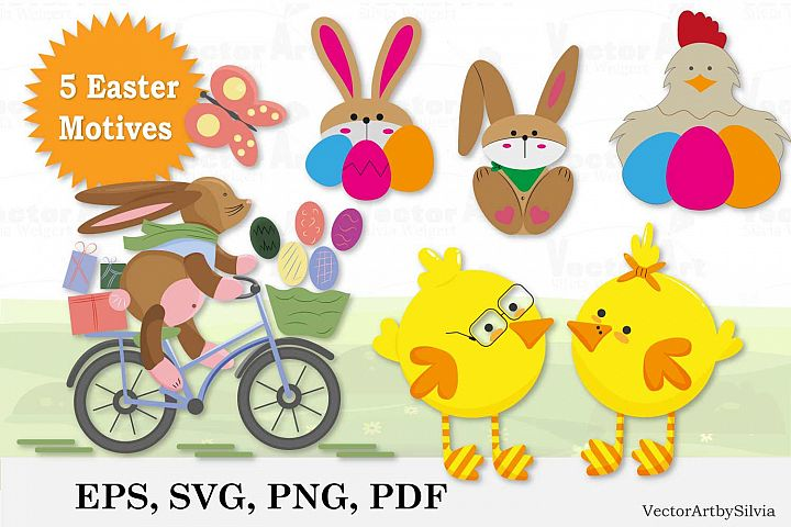 Easter Bundle - Cut Files - 5 Designs