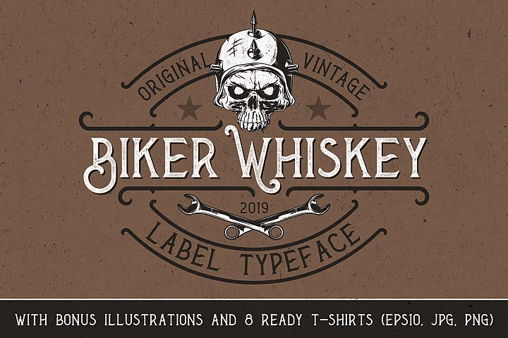 Biker Whiskey Layered Font