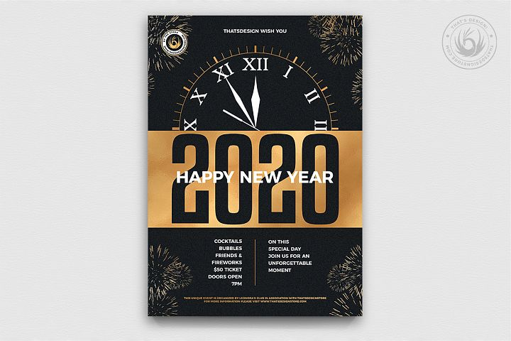 New Year Flyer Template V10