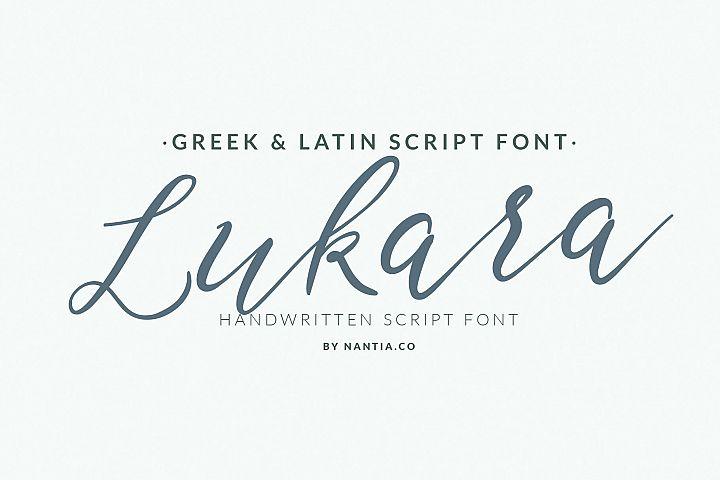 Lukara Pro Greek Script Font