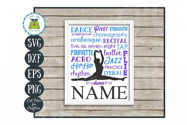 Dance Subway Art SVG Cut File, PNG Printable Wall Art