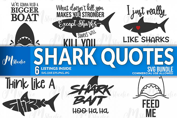Shark Quotes svg.