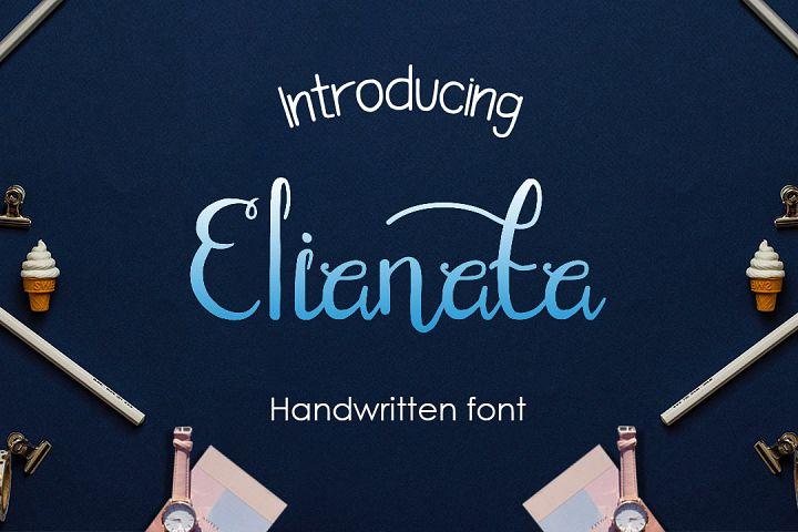 elianata script handwritten font
