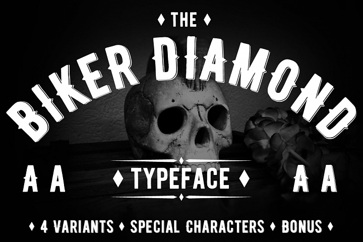 Biker Diamond Typeface