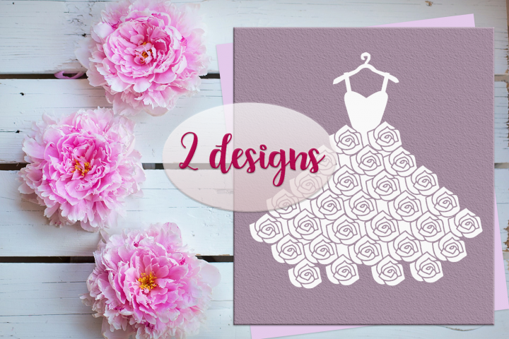 Wedding Dress SVG PNG EPS DXF