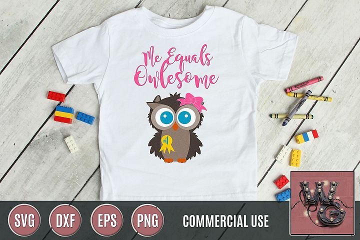 Me Equals Owlesome SVG DXF PNG EPS Comm