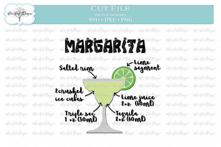 Margarita Recipe - SVG DXF PNG