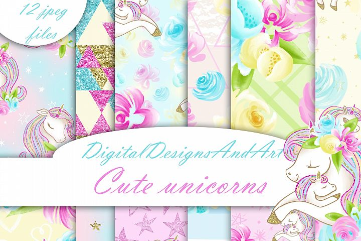 Cute unicorn papers