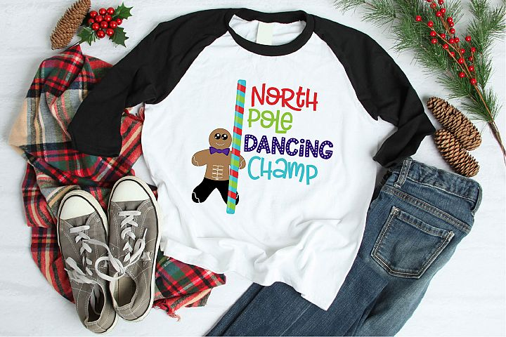 Christmas SVG, North Pole Dancing Champ Sublimation