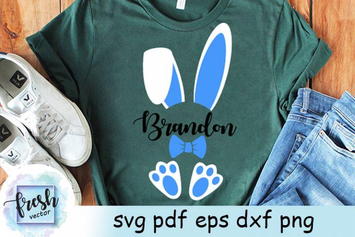 Easter Bunny Monogram Svg Easter Monogram Boy Bunny Svg
