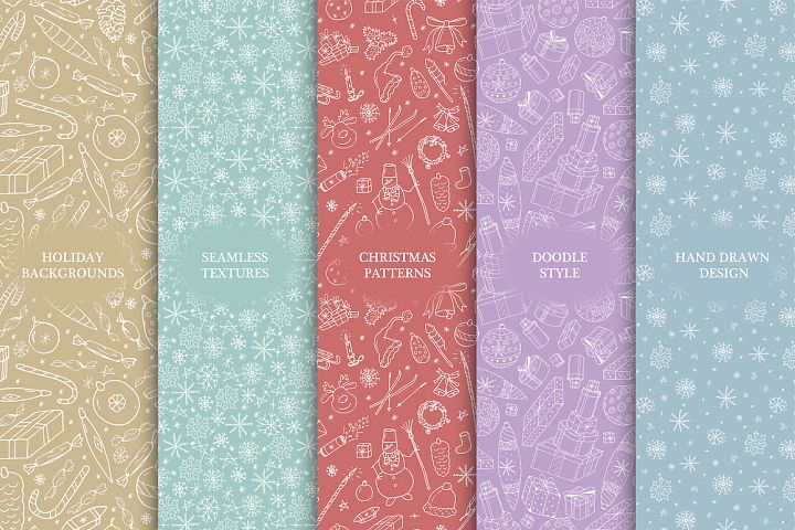 Christmas seamless color backgrounds