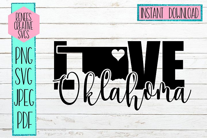 Oklahoma Love | State SVG | SVG Cutting file