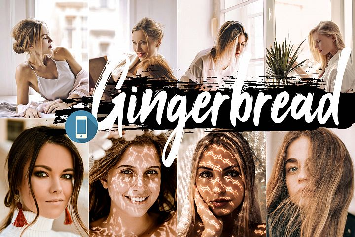 5 Gingerbread Mobile Lightroom Presets