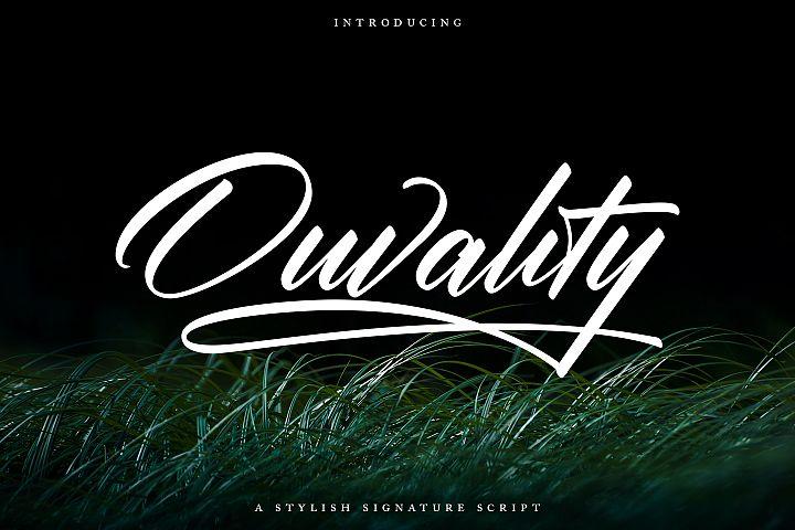 Ouvality Script | A Stylish Signature Script
