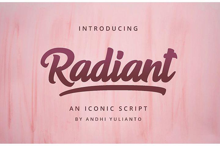 Radiant Iconic Script