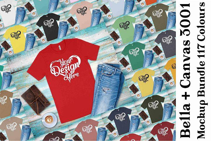 Bella Canvas 3001 Mockup Bundle T-Shirt Mock Ups 138