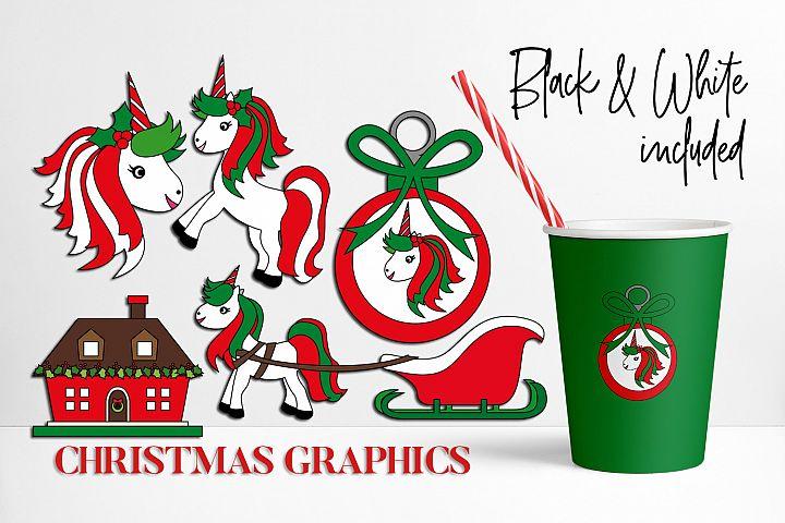 Unicorn Christmas Graphics