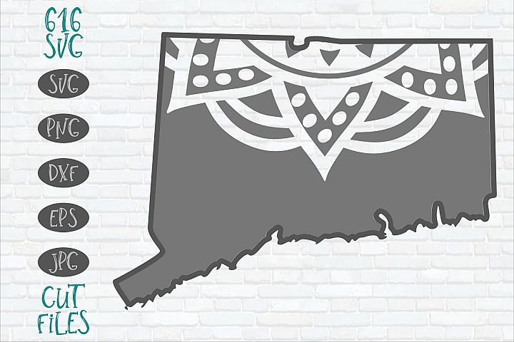 Connecticut Mandala SVG
