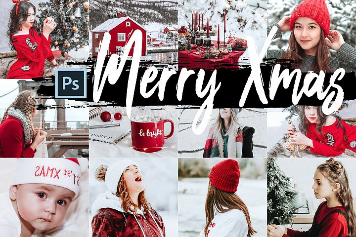 05 Merry Xmas Photoshop Actions, ACR and LUT presets