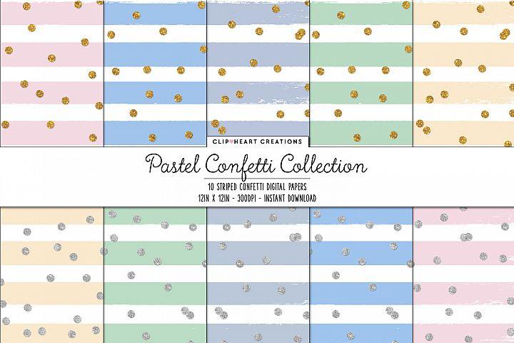 Pastel Confetti Sparkle Digital Papers
