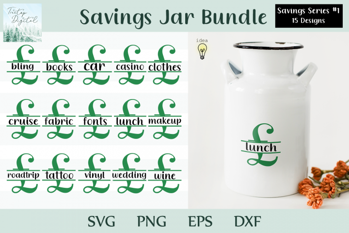 Saving Bank Design Bundle, Pound Sign Savings Series #1