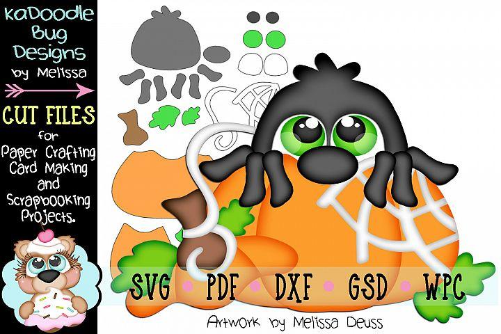 Fall Pumpkin Peeker Spider Cut File - SVG PDF DXF GSD WPC