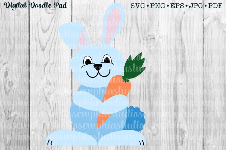 Bunny Rabbit 01 by Digital Doodle Pad
