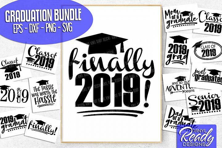 Graduation Bundle Svg Cut Files - 15 Designs - Class of 2019