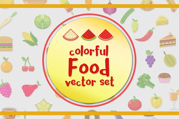 Food Vector Set - Free Design of The Week Font