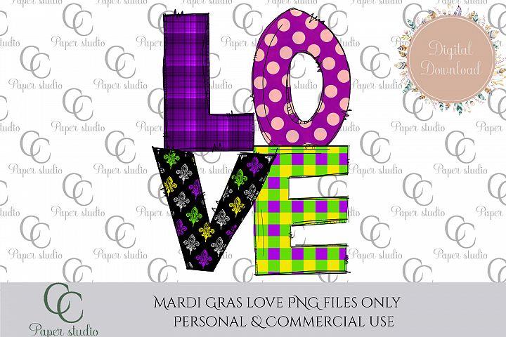 Love Mardi gras sublimation tshirt/mug design