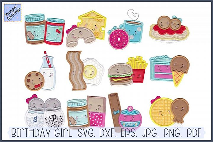 Food Duos Applique - 12 Machine Embroidery Designs