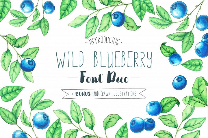 Wild Blueberry Font Duo