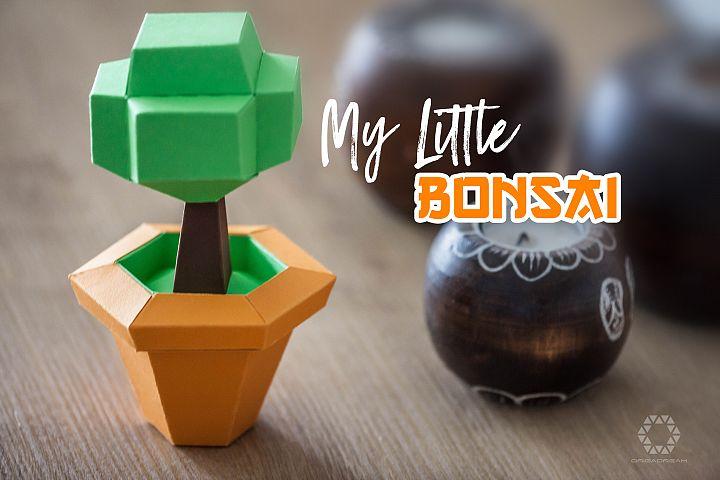 DIY Papercraft PDF Template - Bonsai
