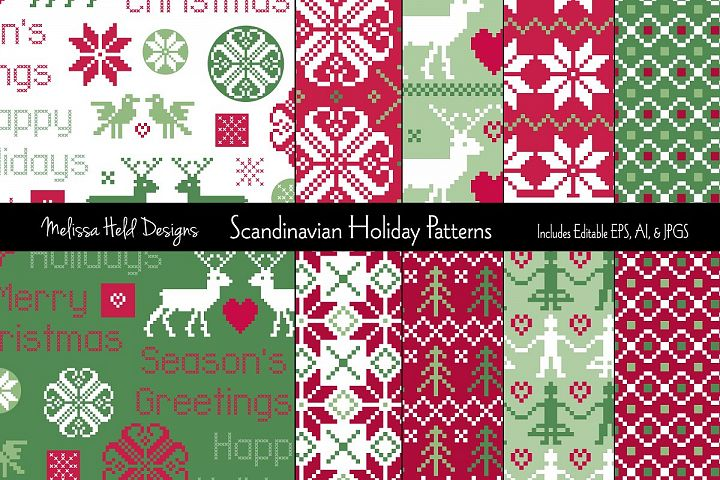 Scandinavian Holiday Patterns