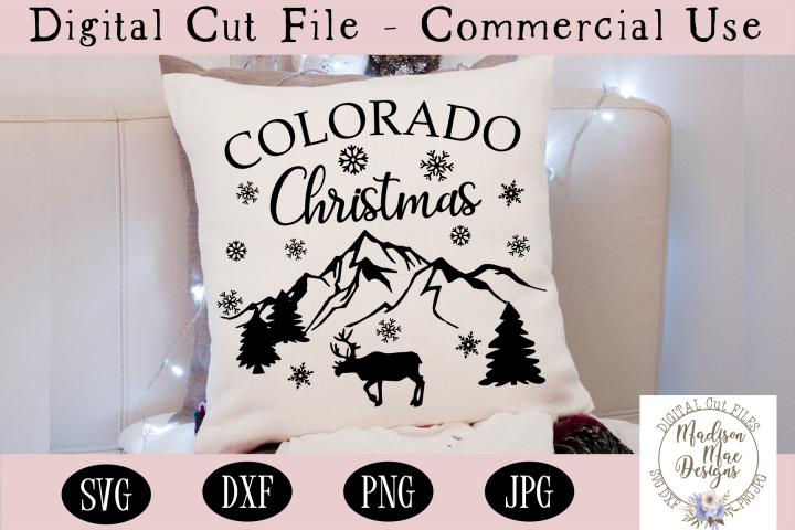 Colorado Christmas SVG, Christmas Cut File
