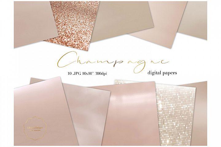 Champagne Color Metallic Texture Paper