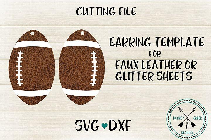 Football Earring SVG Template