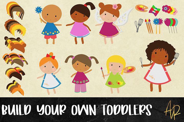Build Your Own Toddler/Girl Bundle| clip art|PNG