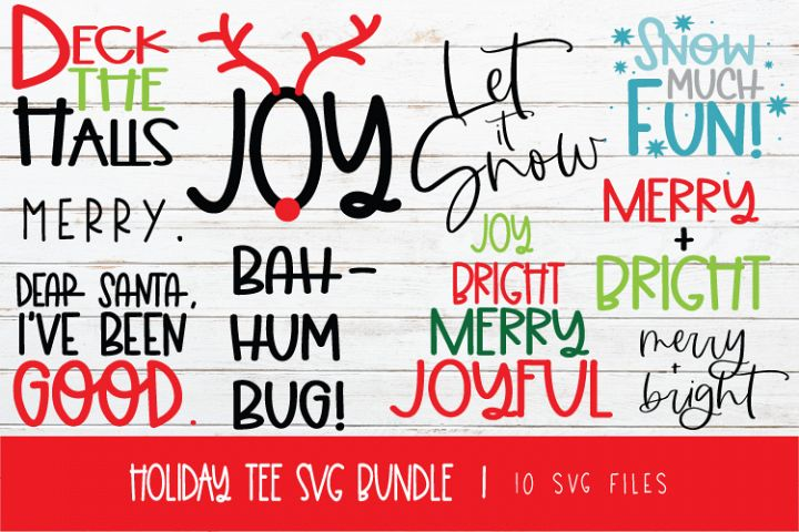 HOLIDAY TEE SVG BUNDLE