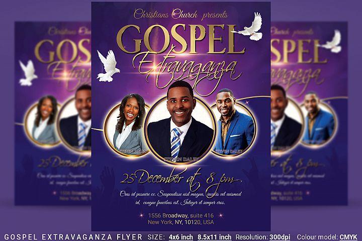 Gospel Extravaganza Flyer Poster