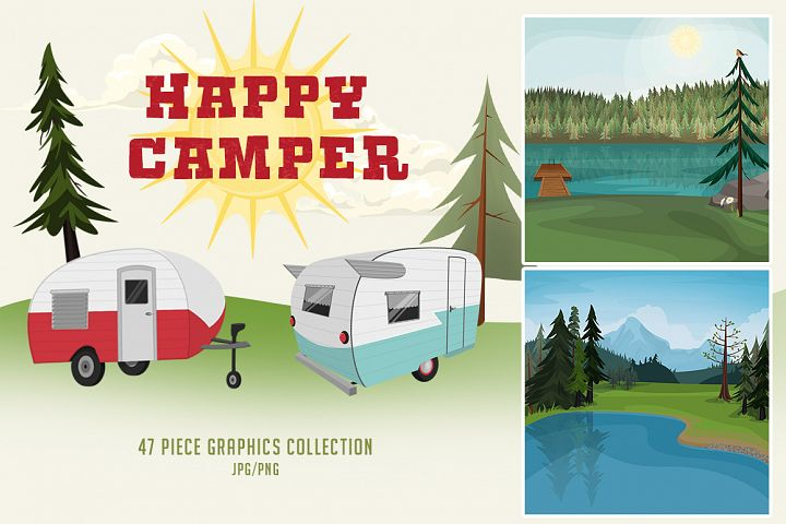Happy Camper Graphics Collection
