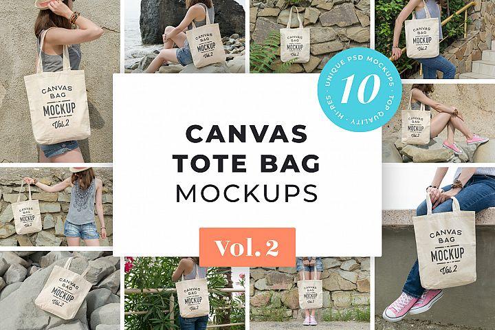 Canvas Tote Bag Mockups Pack Vol.2
