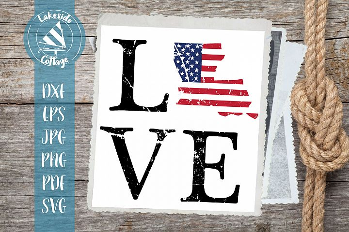 LOVE Lousiana - 4th of july svg - memorial svg dxf eps